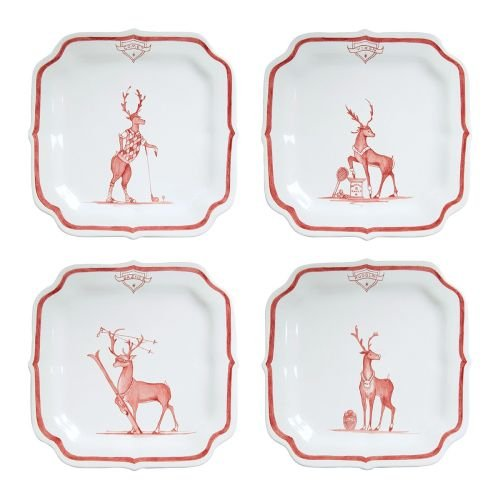 Country Estate Reindeer Games Ruby ''Solo Sports'' Set/4