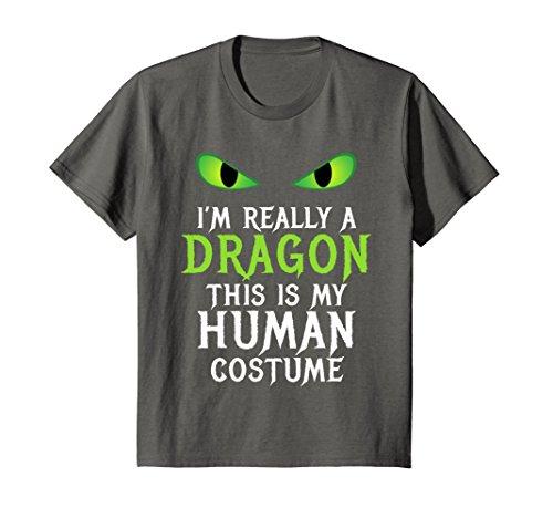 Kids Funny Scary Dragon Costume Halloween Shirt for Women Men Boy 12 Asphalt -