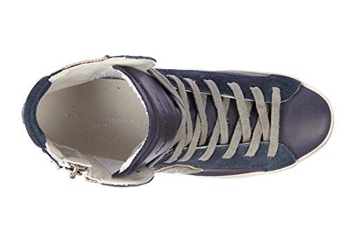 Philippe Model chaussures baskets sneakers hautes homme en cuir bike u vintage b