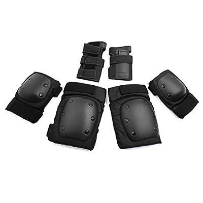 Dealmux 1 Lot Adulte Noir Coude Genouillères protège-poignets Lot  d accessoires de protection 018f691cea6