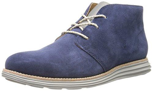 Cole Haan Men's Lunargrand Chukka Boot - Navy Suede/Grey ...