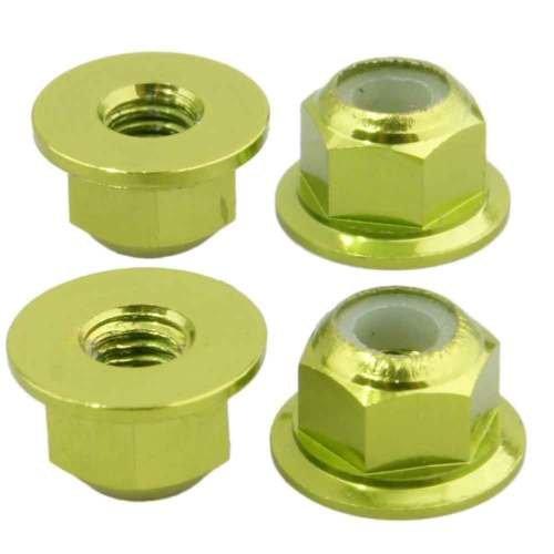 Gozebra(TM) M4 Nylon Lock Nut 4P AXA1045 Green For Axial Racing AX10 Scorpion Rock ()