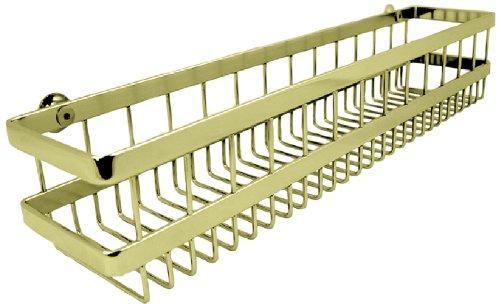 (Westbrass SBK-205-03 Wall Mount Wire Shower Basket, Polished Brass )