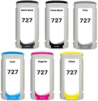 XL de Ink Compatible para HP 727 130 ml, (MBK/PBK/C/M/Y/G) Juego de 6 Unidades: Amazon.es: Electrónica