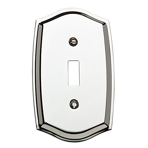 Baldwin Estate 4756.260.CD Colonial Design Single Toggle Wall Plate in Chrome, 5.12