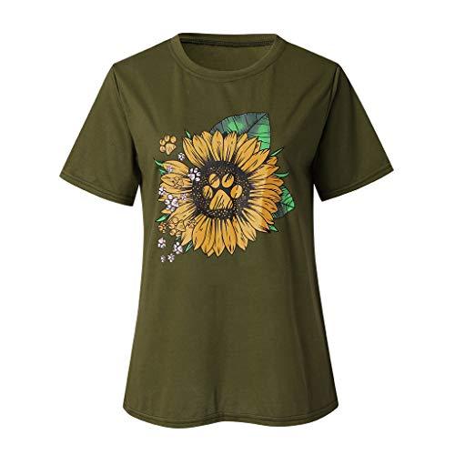 Eaktool Women Summer Shirts for Women Vneck Shirts for Women Workout Shirts for Women Green