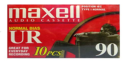Maxell Ur-90 Normal Bias Audio Cassette 90min (Pack of 10 - 90 Minute Tapes from Maxell