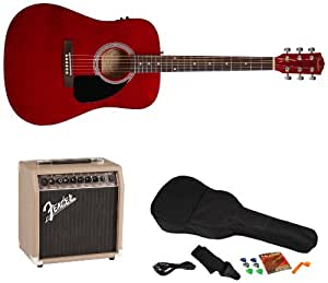 fender fa 200 acoustic electric guitar pack with acoustasonic 15 amp and rock. Black Bedroom Furniture Sets. Home Design Ideas