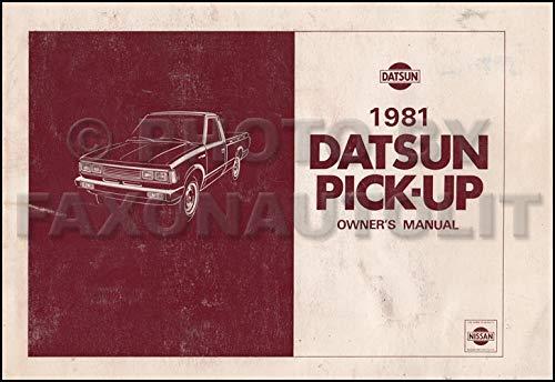 1981 Datsun Pickup Truck Owner's Manual Original 720 Model