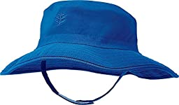 Coolibar UPF 50+ Baby Splashy Bucket Hat - Sun Protective (6-12 Months - Blue Wave)