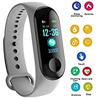Shaarq M3 Smart Watch Watch Colour Screen Bluetooth Heart Rate Blood Pressure Detection Heart Rate Monitor Sport Watch Pedometer
