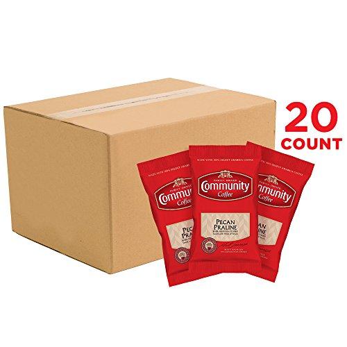 - Community Coffee Premium Ground Pecan Praline Flavored Medium Roast Coffee, 3.0oz 20ct