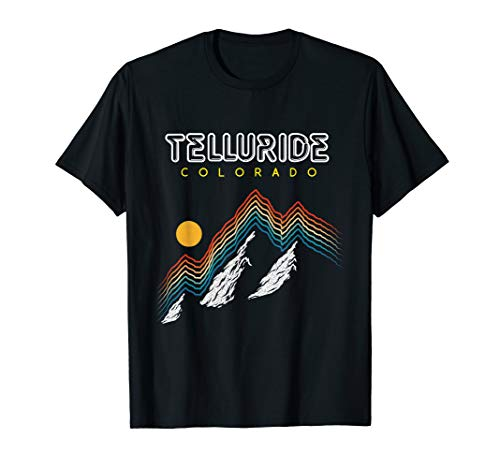 - Telluride Colorado - USA Ski Resort 1980s Retro Shirt