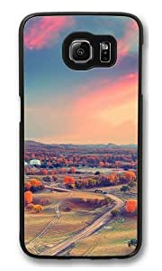 Autumn clouds sunset trees Custom Samsung Galaxy S6/Samsung S6 Case Cover Polycarbonate Black