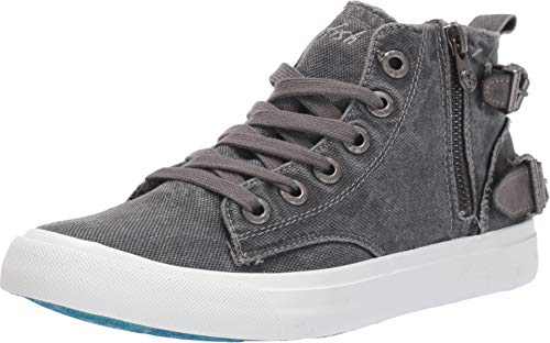 New Blowfish Women's Moxie High Top Fashion Sneaker Grey Smoked Canvas 7