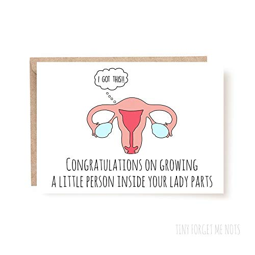 - Funny Pregnancy Card - Congrats Pregnancy Card - Congratulation Pregnancy Card - New Baby Card - Congrats on New Baby - Mom To Be Card - Uterus Funny Card for New Baby or Pregnancy