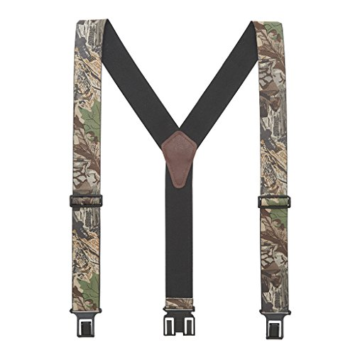 Perry Mens Advantage Timber Camo Suspenders - Belt Clip 42 IN (Advantage Timber Pattern)