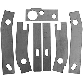 mgsakftv 7P Frame Repair Rusted Shackle Weld Plates Fit 1986-1995 Jeep Wrangler YJ Rear