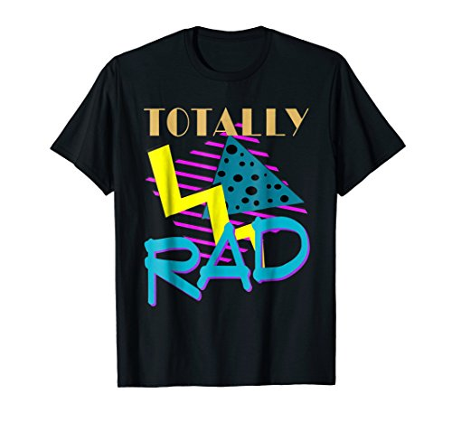 Totally Rad 1980s Vintage Eighties Costume Party t-shirt ()