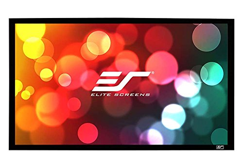 Elite Screens Sable Frame Series, 120-inch Diagonal 16:9, Sound Transparent Perforated Weave Fixed Frame Projection Projector Screen, ER120WH1-A1080P3