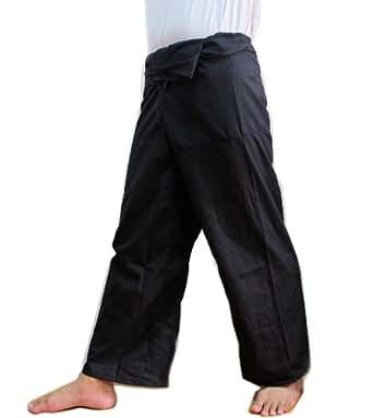 Cotton Thai Fisherman Wrap Pants Trousers Yoga Massage Pregnancy Pants