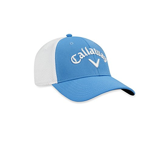 Callaway 2017 Tour Stretch Fitted Hat , Light Blue/White, Large/X-Large