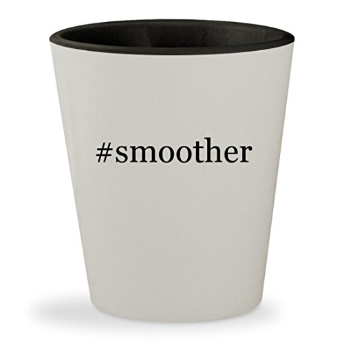 #smoother - Hashtag White Outer & Black Inner Ceramic 1.5oz Shot (Lanza Smoother)