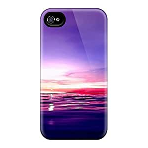 Hot Sea Red Sunset First Grade Phone Cases Diy For Iphone 5/5s Case Cover Covers