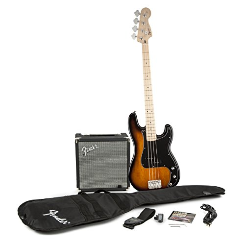 885978475636 - Squier by Fender P Bass Guitar Pack - Sunburst carousel main 0