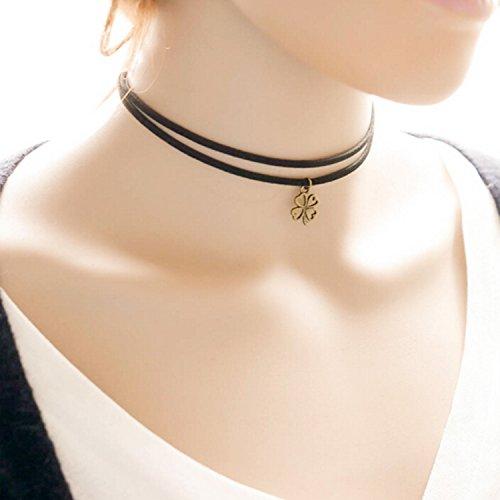 Bridalvenus Black Lace Choker Necklaces