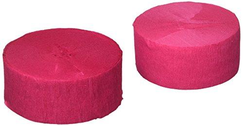 Unique Crepe Streamer 81 Feet 2/Pkg-Hot Pink (2161701)