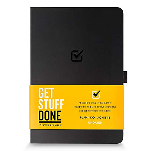 "Undated Productivity Journal 13 Week Planner for Goal Setting - Plus 31 Daily Pages, 8.3""x5.5"" : Get the Best from Yourself :: Includes Guide With Tips :: Motivational & Inspirational, for Men & Women"