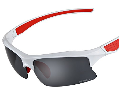 Akaso Men's Eagles Polarized Sunglasses, Fishing Sunglasses, 100% UV Protective, Cycling, Biking, Baseball, Running, Driving Golf and More Sports