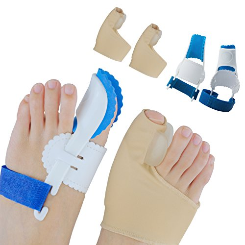 (Sumifun Bunion Corrector, Adjustable Bunion Night Splint, Protector Sleeves kit for Big Toe Strap Bunion Bootie Provides Great Protection and Treatment for Bunion Pain (Style 2))