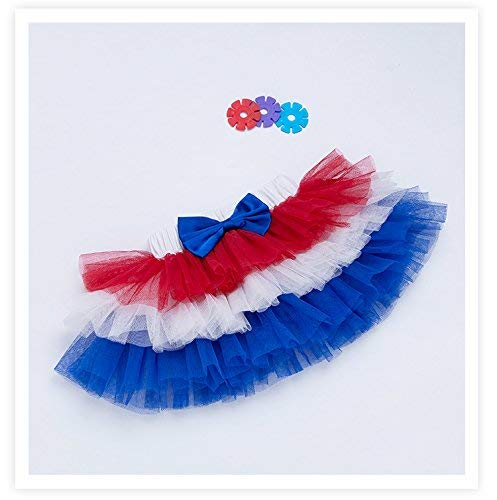 Veterans Day ruffle skirt - tulle skirt - 6/12 months - girls skirt - red white and blue skirt - red tulle skirt - patriotic skirt - red white and blue girls skirt