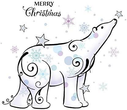 Tarjeta de Navidad - estilo tatuaje, oso polar - Feliz Navidad, en ...