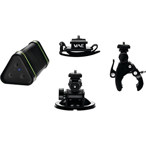 (Hercules WAE Outdoor BTP04 Adventure Pack IP64-Certified Bluetooth Speaker (Black))