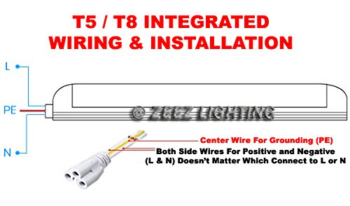 zeez lighting t5 integrated 3ft 14w daylight cool white led tube rh amazon com