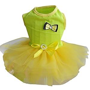Adarl Cute Summer Pet Dress Princess Tutu Dress Bowknot Yarn Skirt Clothes For Puppy Dog Cat