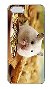 iPhone 5/5s Case, Personalized Protective Eating Mice Case for iPhone 5/5S PC Clear Phone Cover