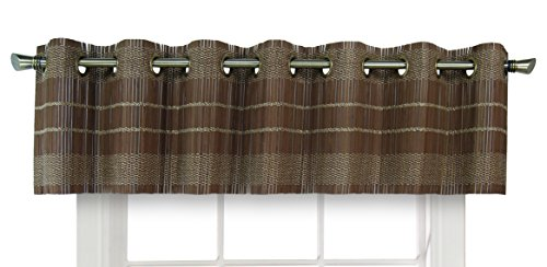 (Versailles Home Fashions BPU147212-12 Bamboo Wood Valance with Grommets, 72
