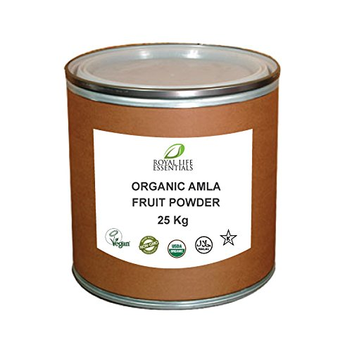 Alma Fruit Powder 25 KG or 55 lbs. USDA Certified Organic, Natural Pure, Bulk Wholesale Disaster Food Herbal Supplements Storage Container by Royal Life Essentials