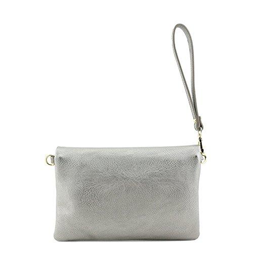with Clutch Bagblaze Foldover Bag Pewter Envelope Light Crossbody Strap Chain Wristlet WYaTg6awq