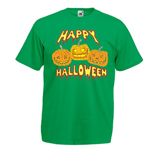lepni.me Men's T-Shirt Happy Halloween! Party Outfits & Costume - Gift Idea (XXX-Large Green Multi Color) -