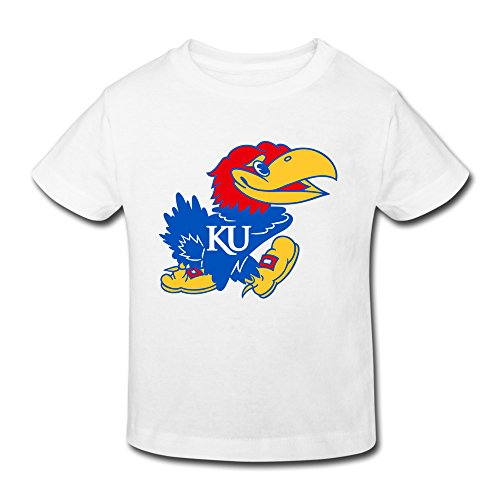 Jayhawk Tee (Fashion Custom Summer Ncaa Kansas Jayhawks KU Teams Logo Kids T-shirt Short Sleeve Toddler)