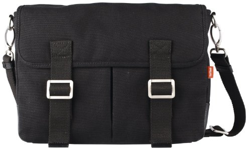 Toffee Mission Rucksack Canvas Messenger Cross body bag, Day Bag, Rucksack, Compartment for iPad PRO 10.5 & similar sized tablets, Strap (Black by Toffee