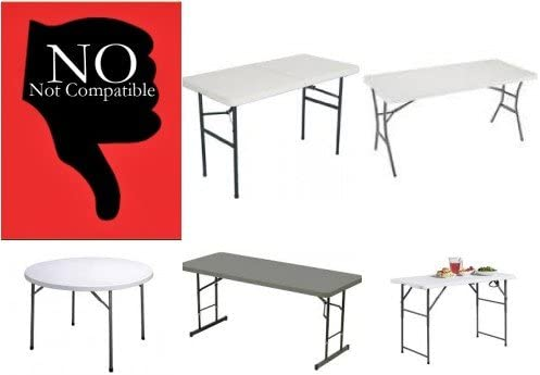 converts Folding Table to bar//Demo high Table Lift Your Table Folding Table risers Extenders