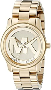 9652f067194e ... Michael Kors Women s Runway Gold-Tone Watch MK5786