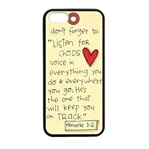 Generic Cell Phones Case For Iphone 6 Plus case 5.5 inch Bible Verse Design Plastic phone Cases Protective Shell Personalized Pattern Skin by runtopwell