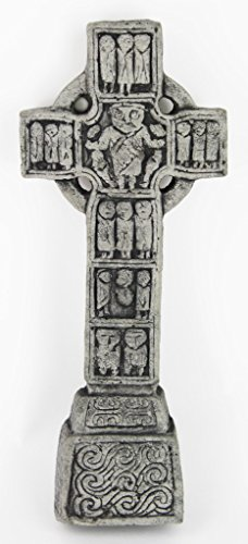 Celtic Cross Castledermont Home and Garden Decor Statue Religious Cement Irish Sculpture